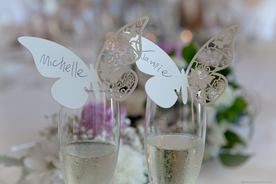 wedding butterflies by picture me beautiful photography UK