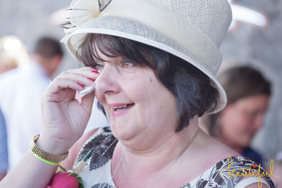 tears of joy for the mother of the groom by Picture-Me-Beautiful-Wedding Photography-and-Film UK