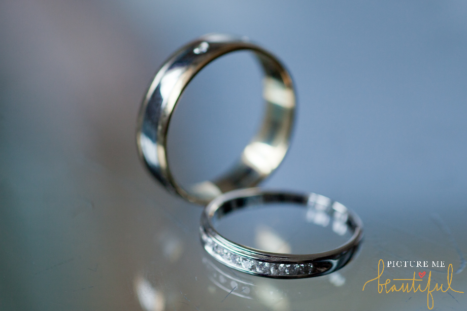 the wedding rings Picture Me Beautiful Photography and Film