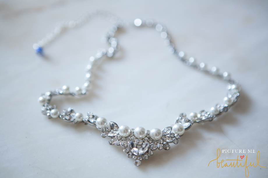 bridal necklace by Picture Me Beautiful Wedding Photography and Film