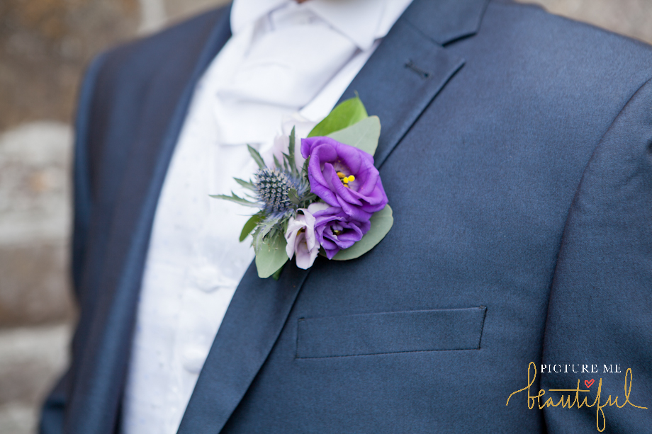 buttonhole detail by Picture Me Beautiful Wedding Photography and Film