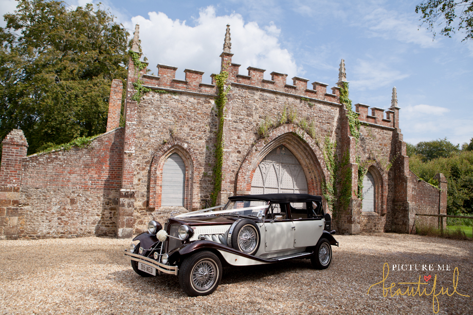 vintage wedding car by Picture Me Beautiful Wedding Photography and Film