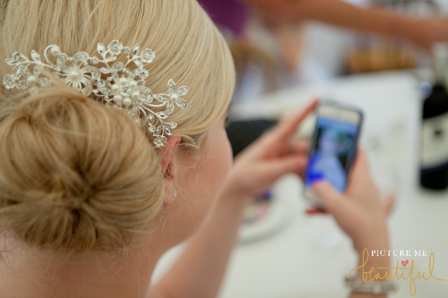 bridesmaid selfie by Picture Me Beautiful Wedding Photography and Film