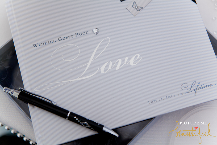 wedding guest book by Picture Me Beautiful Wedding Photography and Film