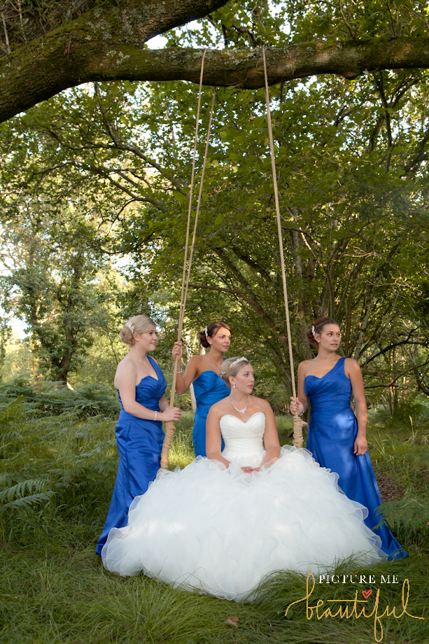bride and her bridesmaids by Picture Me Beautiful Wedding Photography and Film