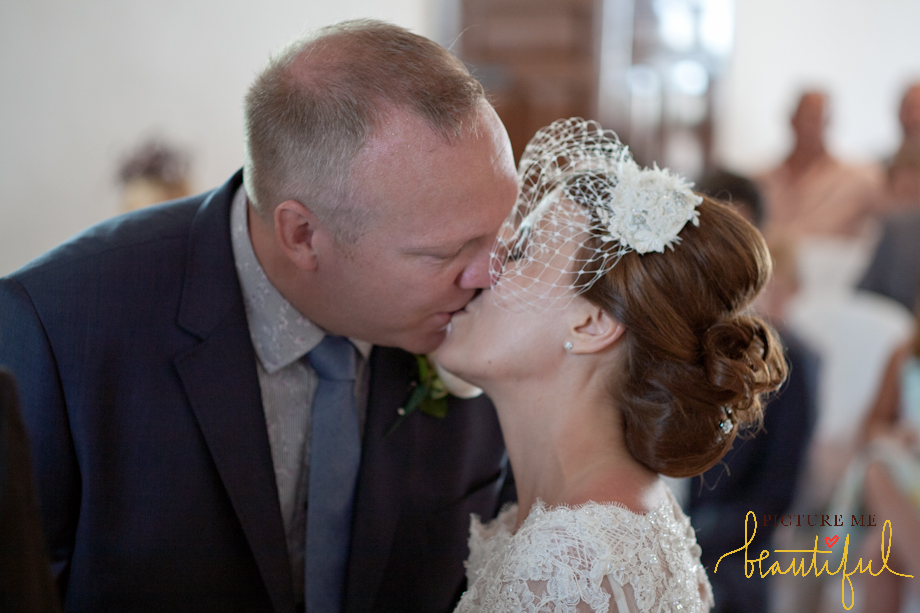 the kiss by  Picture Me Beautiful Wedding Photography and Film