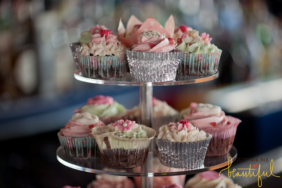 wedding cupcakes by  Picture Me Beautiful Wedding Photography and Film