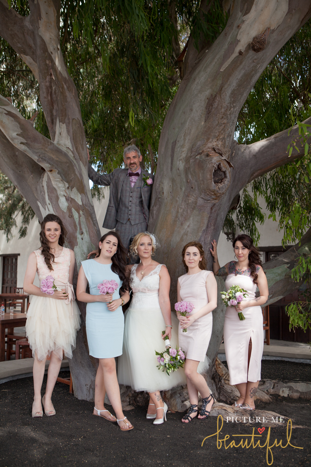 the bride and groom with the bridesmaids by Picture Me Beautiful Wedding Photography and Film