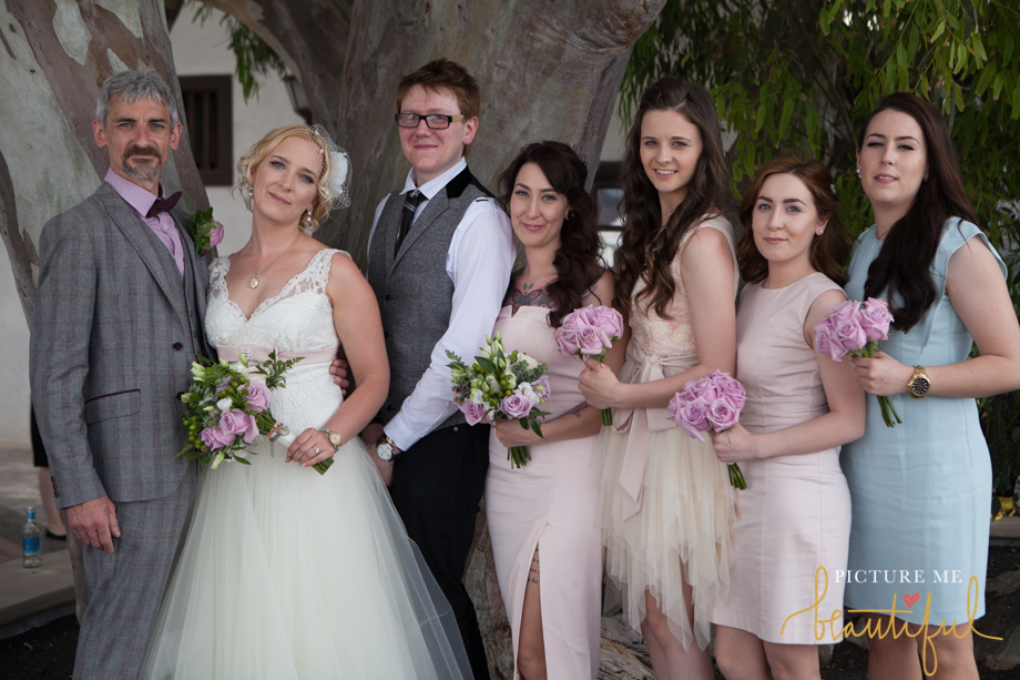 wedding group by Picture Me Beautiful Wedding Photography and Film